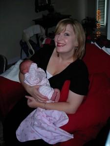 With Jakki's precious Aubrey.